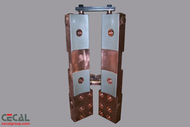 Copper Electrical Components : Cecal contact clamps and electrode holders for electric